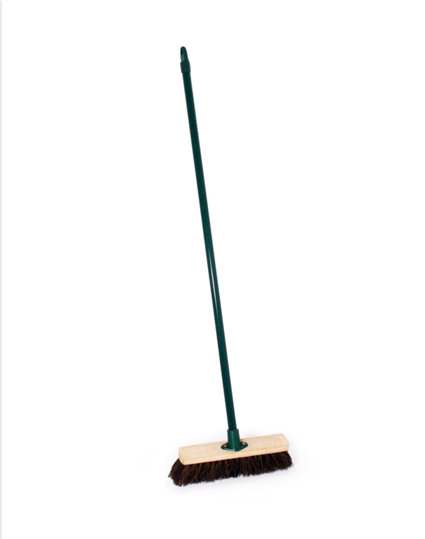 Ambassador Stiff Bassine Broom With Metal Handle - 11.4""