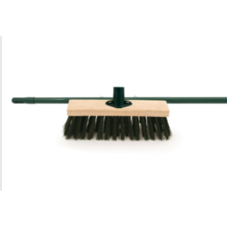 Ambassador Stiff PVC Brush With Metal Handle - 11""