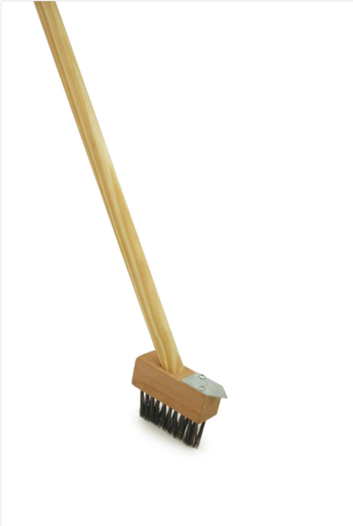 Ambassador Patio Weed Brush With Wooden Handle - 4""