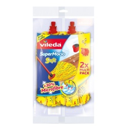 Vileda Supermocio Soft Mop Twin Pack