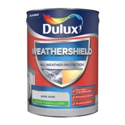 Dulux Weathershield Smooth Masonry Paint 5L Pale Slate