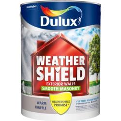 Dulux Weathershield Smooth Masonry Paint 5L Warm Truffle
