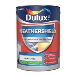 Dulux Weathershield Smooth Masonry Paint 5L Ashen White