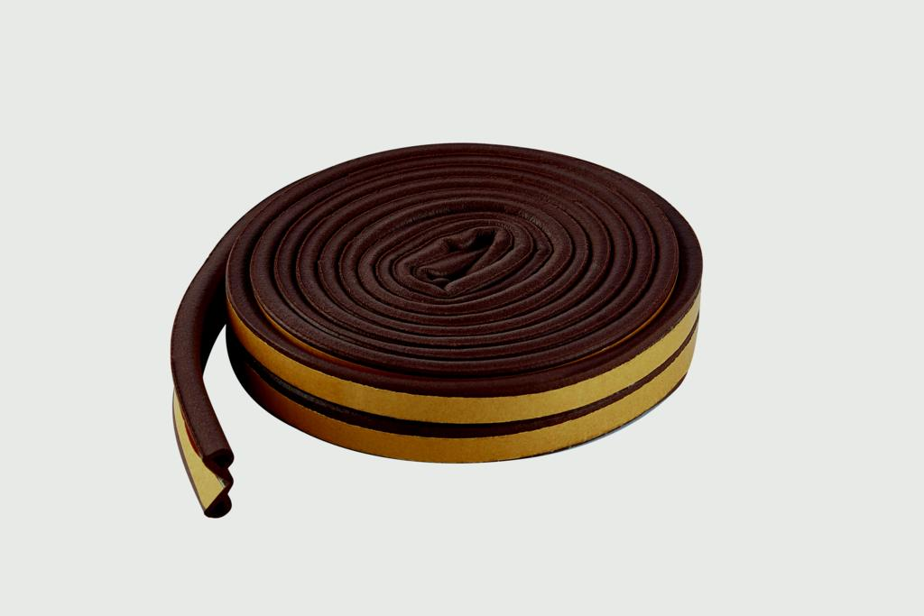 Woodside Epdm P Rubber Strip - 5m Brown