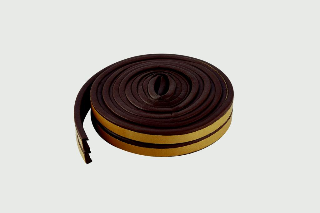 Woodside EPDM E Rubber Strip - 5m Brown