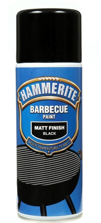 Hammerite Barbecue Paint 400ml Aerosol - Matt Black