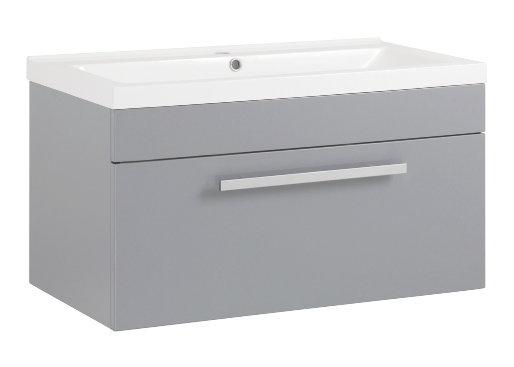 SP Avalon Grey Wall Hung Drawer Basin Unit - 800mm