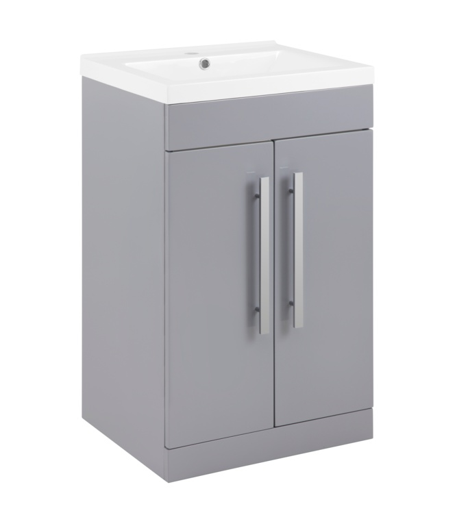 SP Avalon 2 Door Grey Basin Unit - 500mm