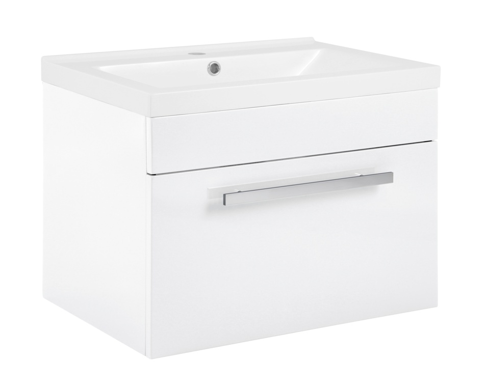 SP Avalon Gloss White Wall Hung Drawer Basin Unit - 600mm