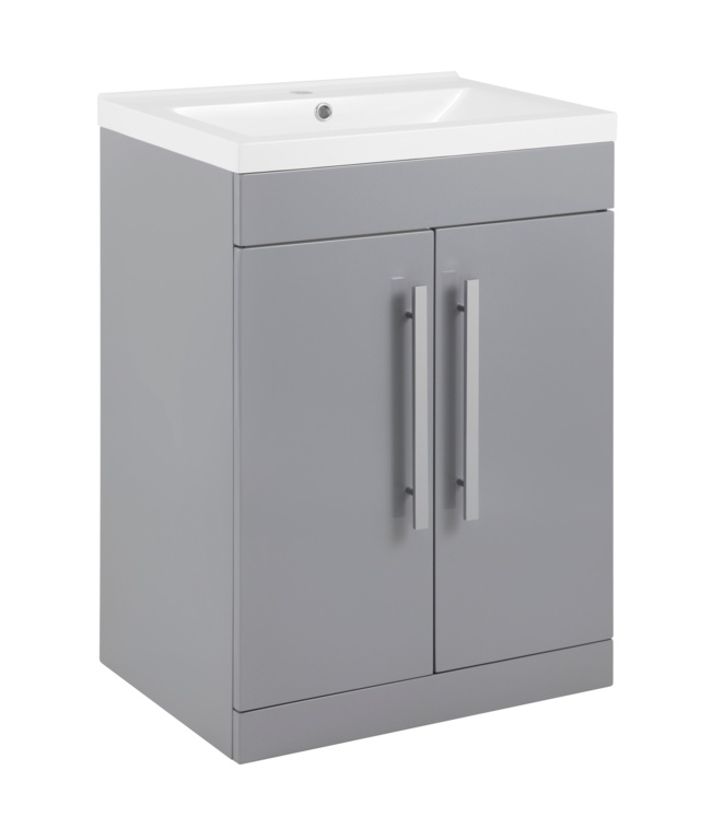 SP Avalon 2 Door Grey Basin Unit - 600mm