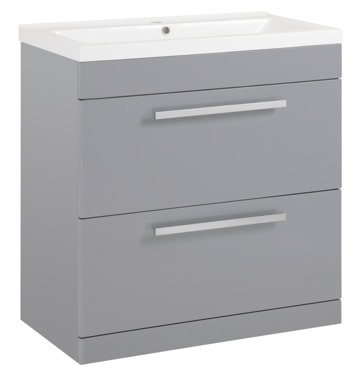 SP Avalon Grey 2 Drawer Basin Unit - 800mm