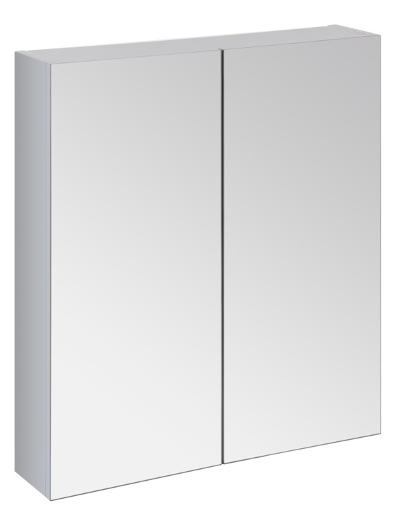 SP Avalon Wall Hung 2 Door Grey Mirror Cabinet - 600mm