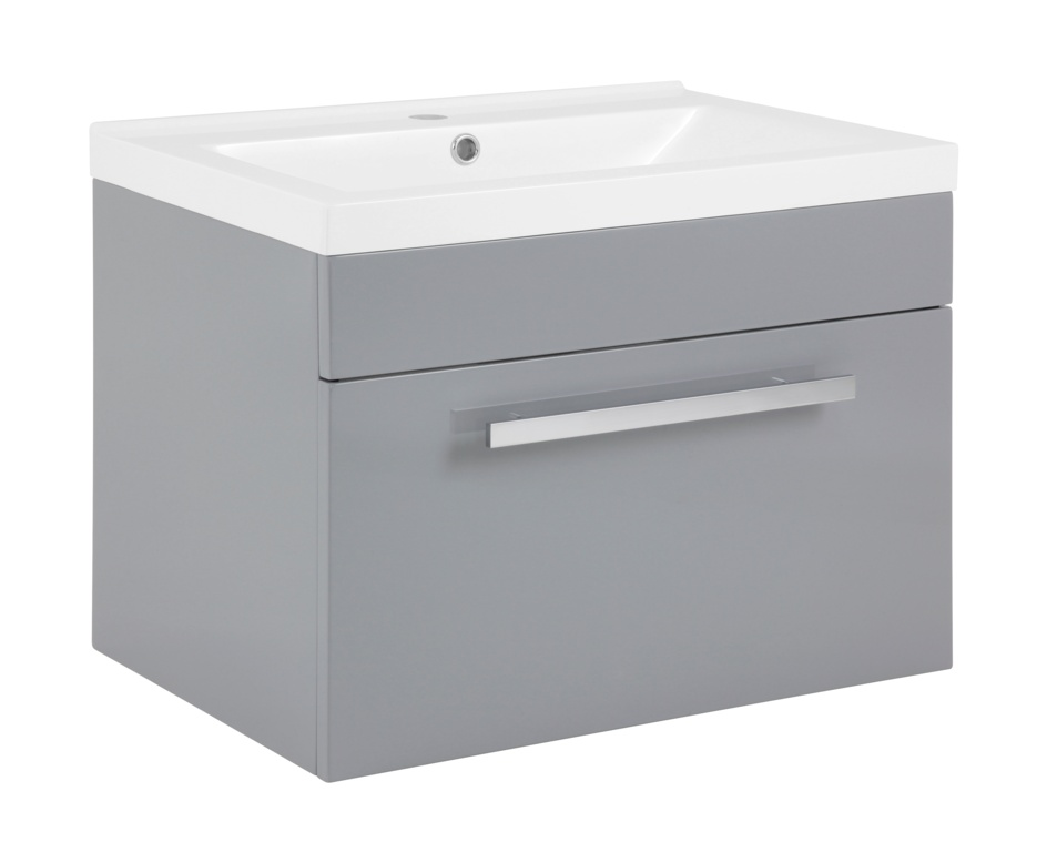 SP Avalon Grey Wall Hung Drawer Basin Unit - 600mm