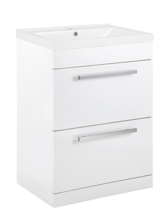 SP Avalon 2  Drawer Gloss White Basin Unit - 600mm
