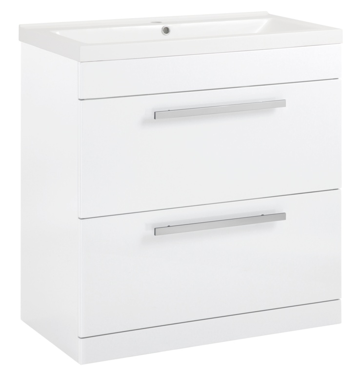 SP Avalon 2 Drawer Gloss White Basin Unit - 800mm