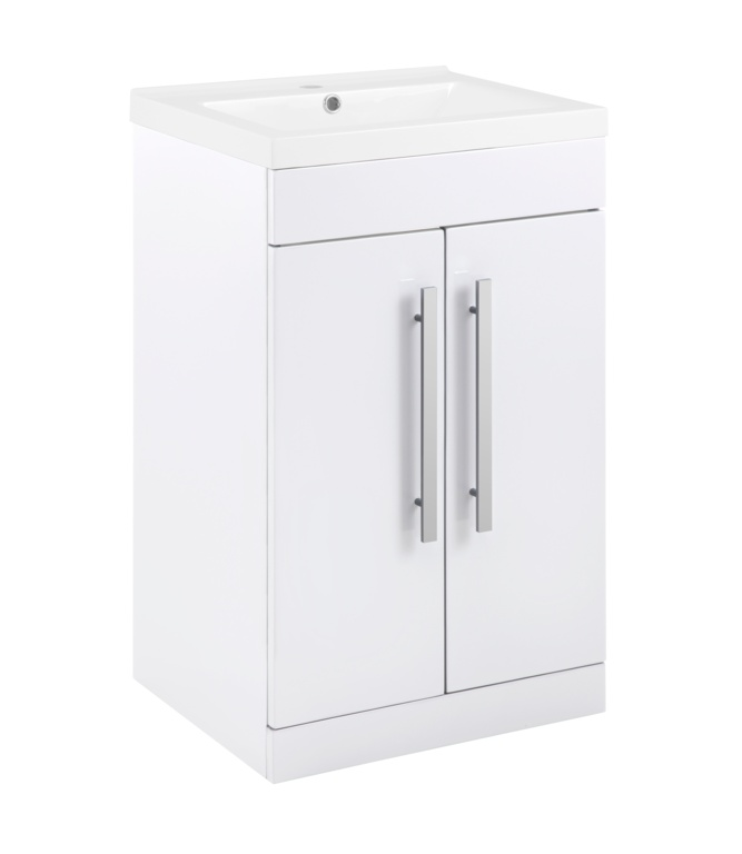 SP Avalon 2 Door Gloss White Basin Unit - 500mm