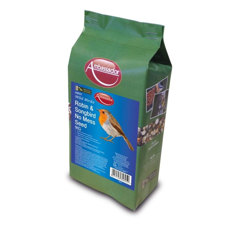 Ambassador Robin & Songbird No Mess Seed - 1kg
