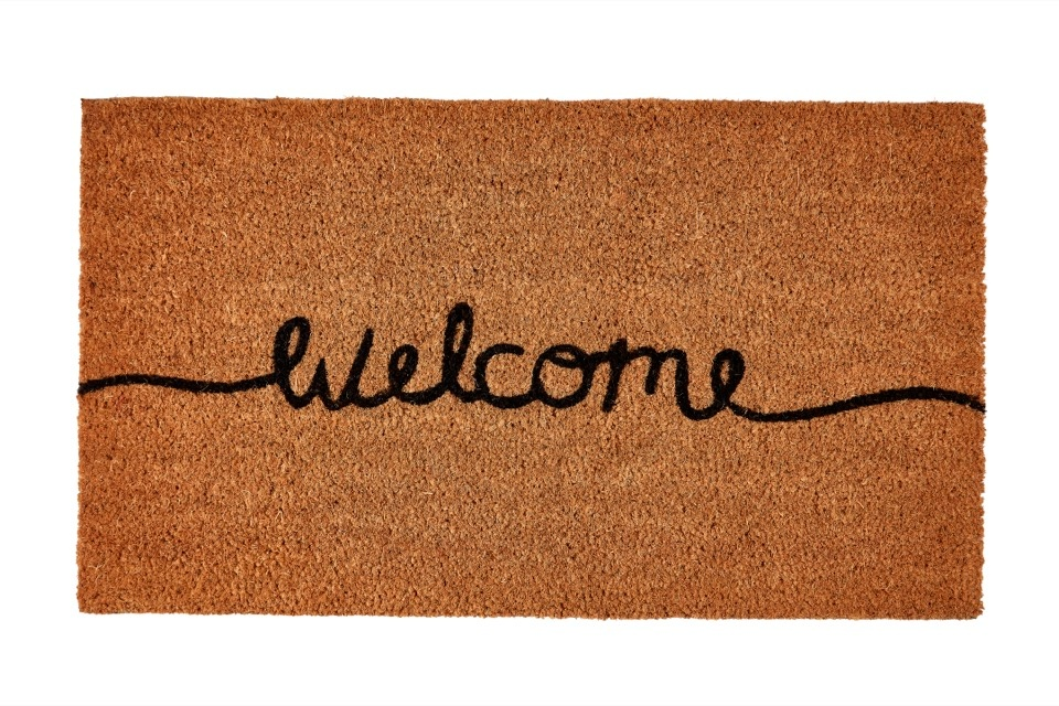 Groundsman Welcome Natural Coco Doormat - 40 x 70cm