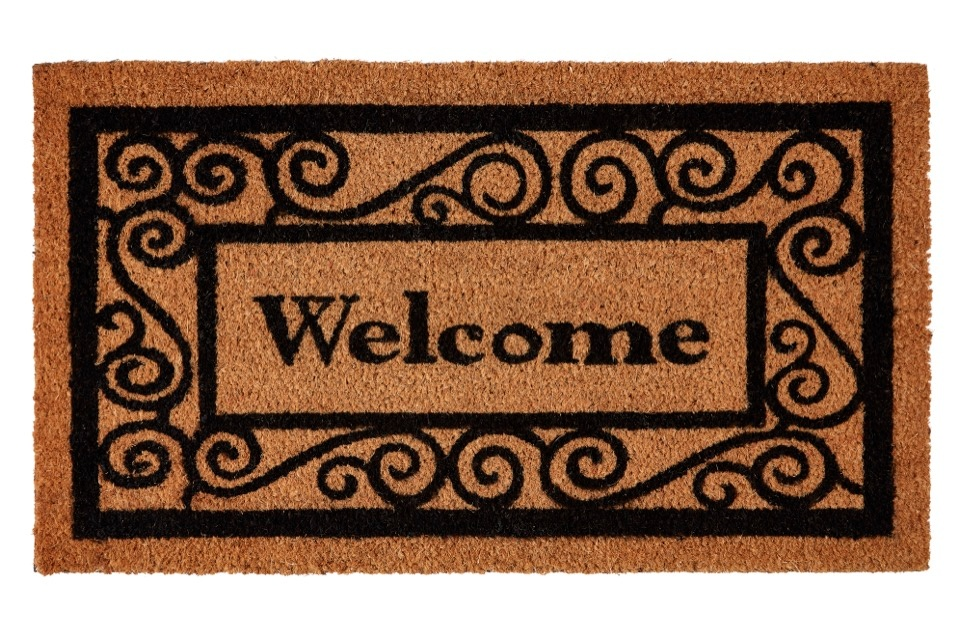 Groundsman Welcome Grey Coco Doormat - 40 x 70cm