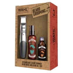Wahl Rechargeable Trimmer, Beard Oil & Beard Wash Gift Set