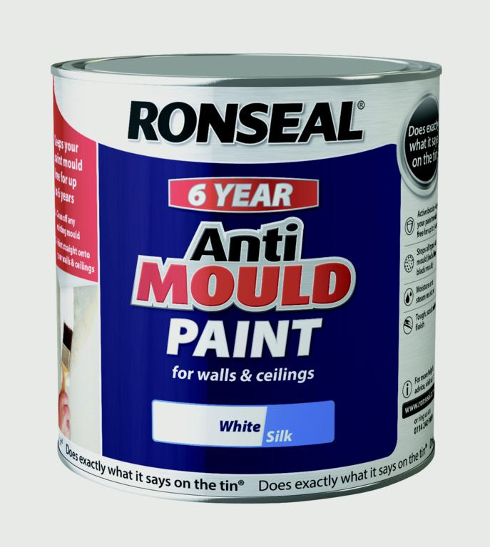 Ronseal 6 Year Anti Mould Paint 2.5L - White Silk