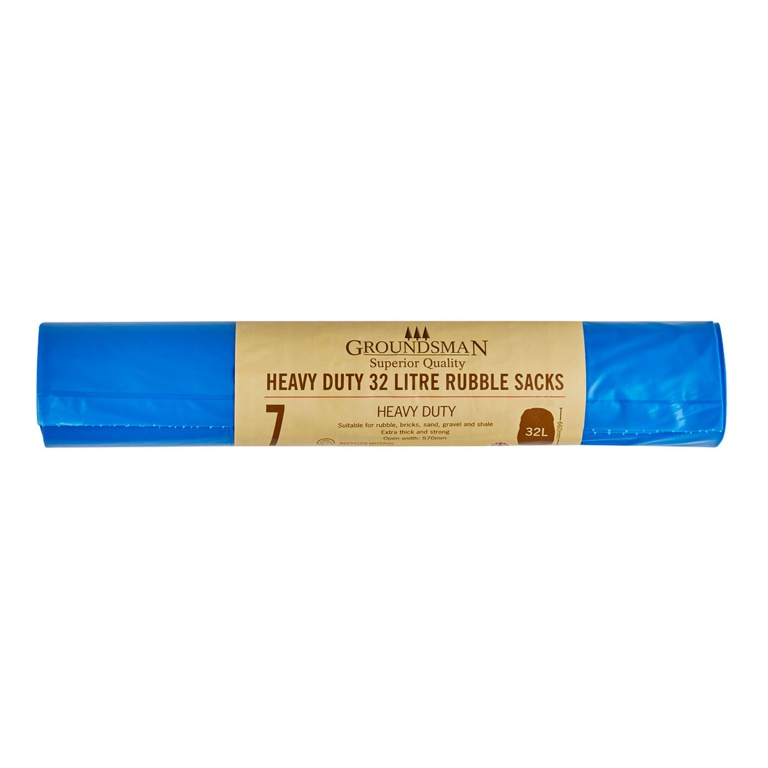 Groundsman Heavy Duty Rubble Sacks - 32L - Roll of 7