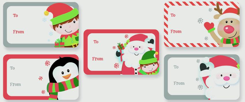 North Pole Cute Sticker Tags - Pack 50