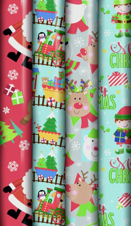North Pole Cute Wrap - 8m