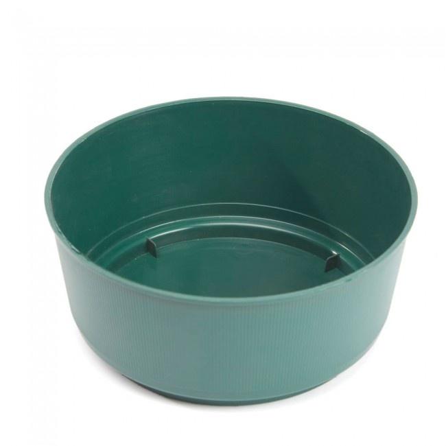 Oasis Green Bulb Bowl - 24 x 9cm