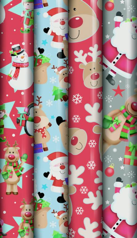 North Pole Cute Christmas Wrap - 5m
