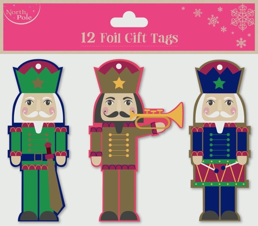 North Pole Giant Soldier Tags - Pack 12