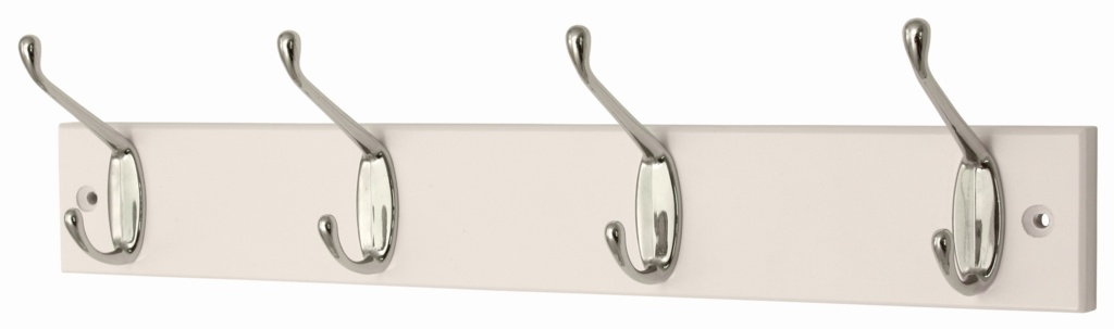 Headbourne White Board Chrome Hook - 4 Hook