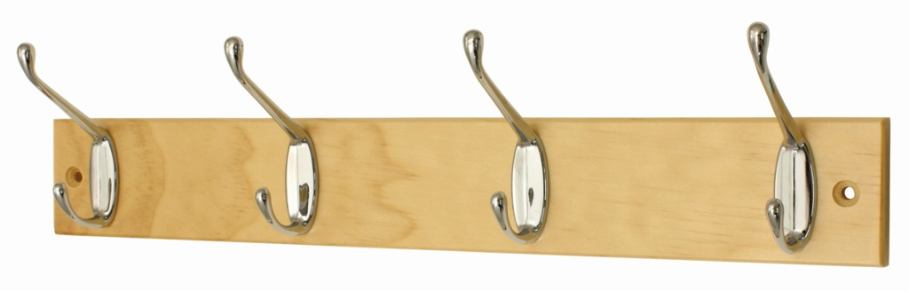 Headbourne Pine Board Silver Hook - 4 Hook