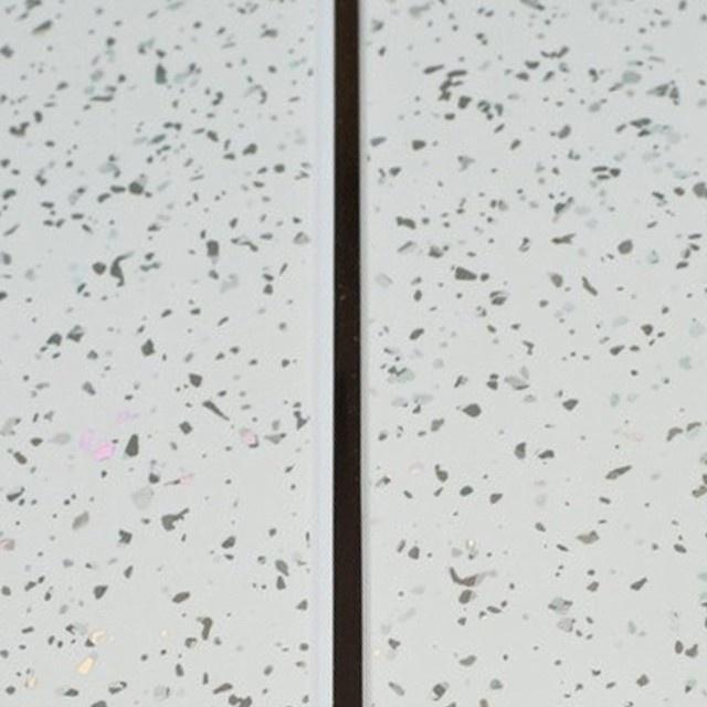 Giavani Bathrooms Ceiling Panel 2700 x 250 x 9.5mm - White Sparkle & Chrome Pack 5