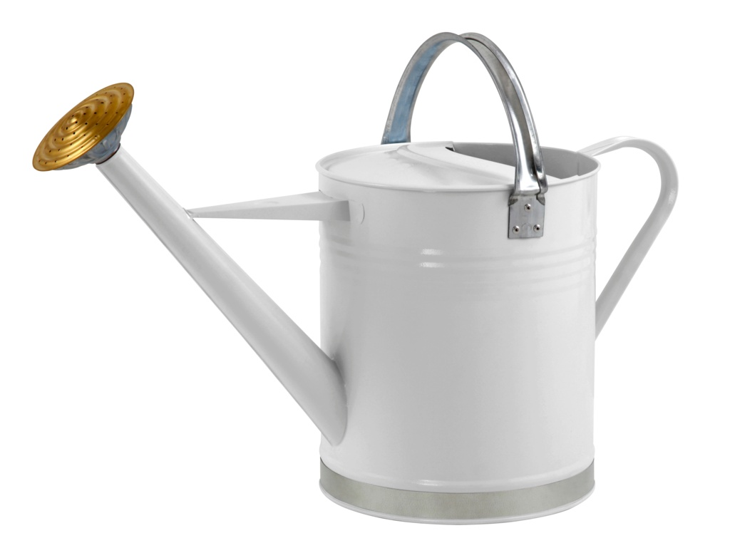 Ambassador Metal Watering Can - Cream  2 Gallon