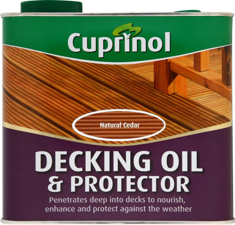 Cuprinol Decking Oil & Protector - 2.5L Natural Pine