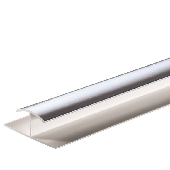 Giavani H Joint Trim 10mm x 2.7m - Chrome