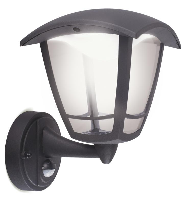 Luceco LED Coach Lantern IP44 - 8w PIR 640 Lumen
