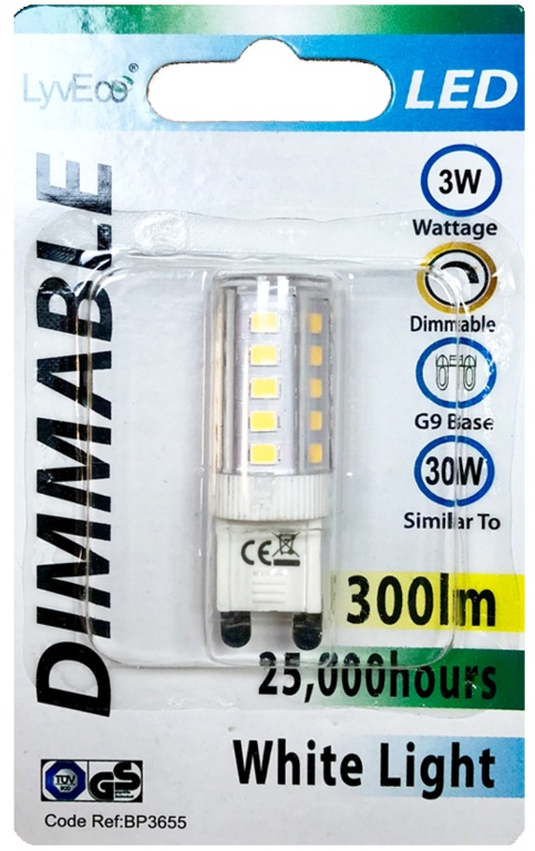 Lyveco LED Dimmable G9 - 3w/300ml/2700k