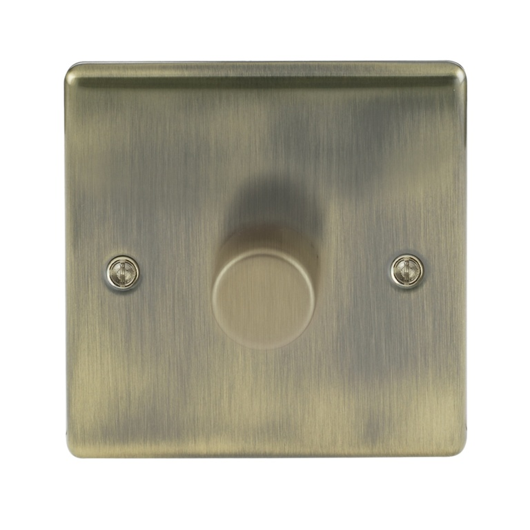 BG 1 Gang Dimmer Switch - Antique Brass