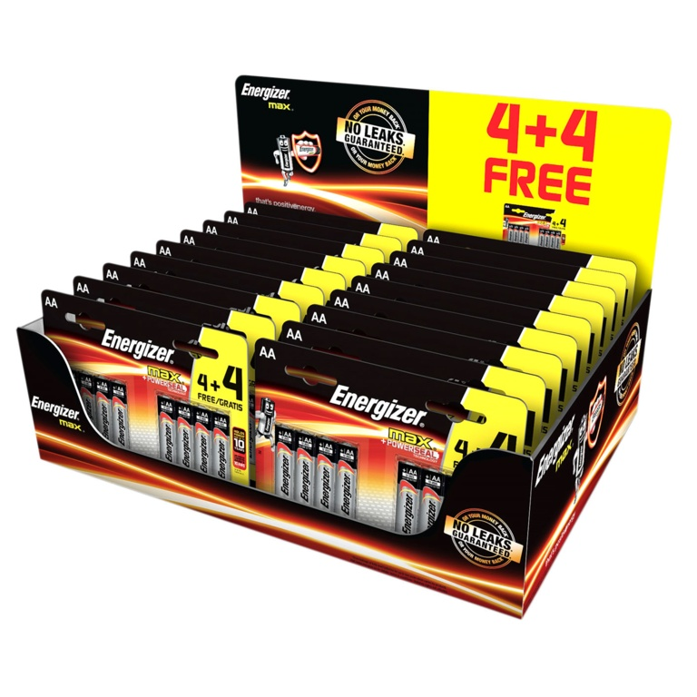 Energizer Max AA Counter Top Display - 24 Batteries