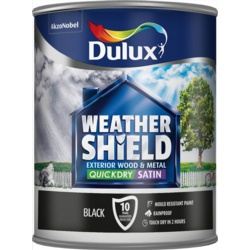 Dulux Weathershield Quick Dry Satin 750ml Black