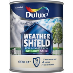 Dulux Weathershield Quick Dry Satin 750ml Cream Tea