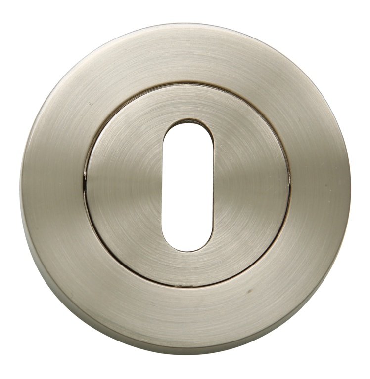 Oro & Oro Keyhole Escutcheon Pack 2 - Satin Nickel