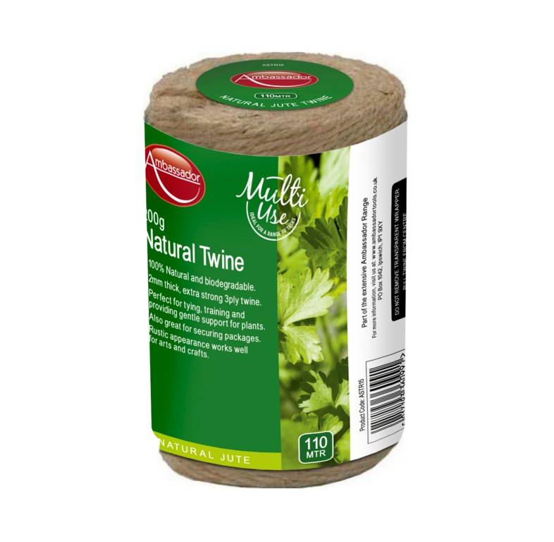 Ambassador Natural Jute Spool 3 Ply - 200gm/110m