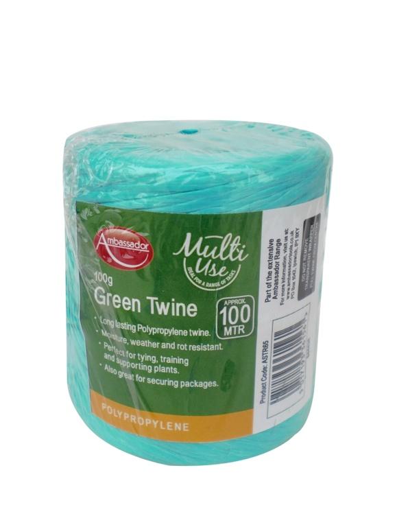 Ambassador Green Poly Twine Spool - 100gm/150m
