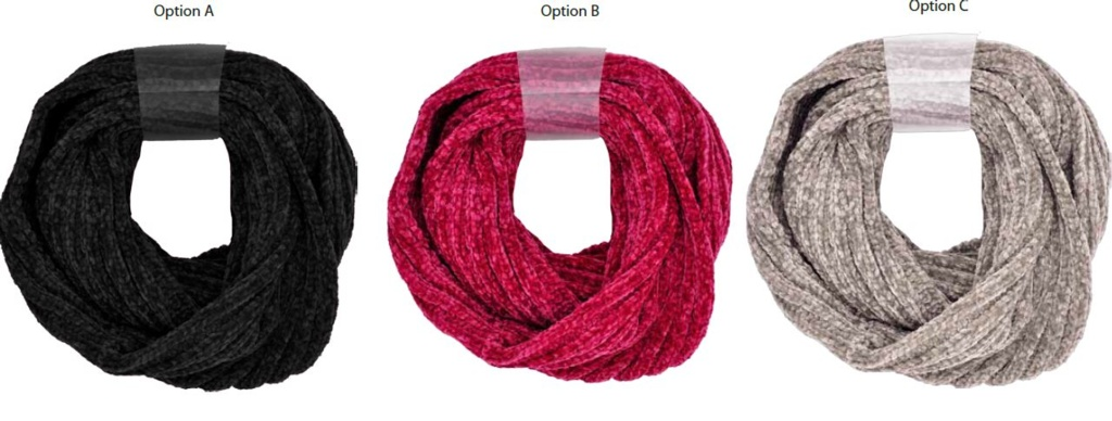 RJM Ladies Chenille Snood