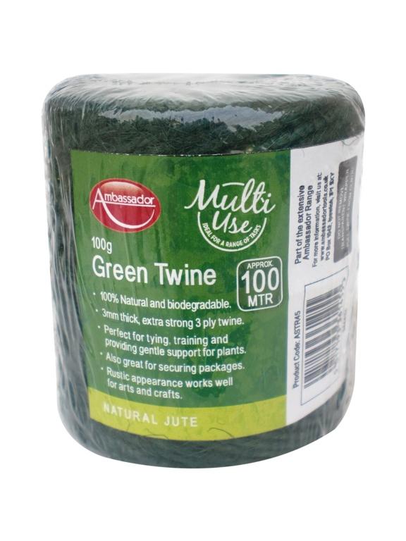 Ambassador Green Jute Twine - 100g/100m
