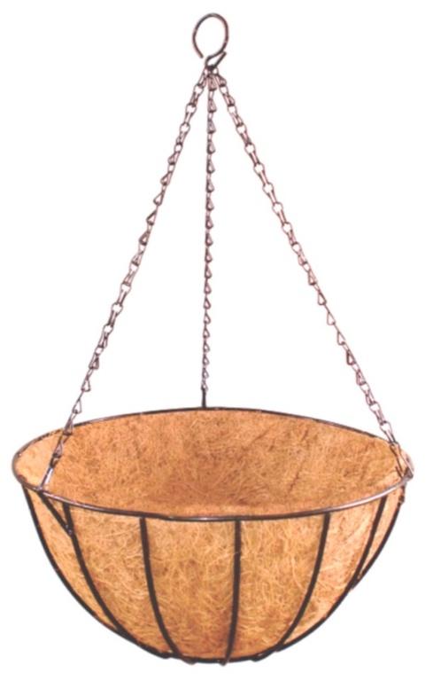 """Ambassador Hanging Basket With Coco Liner - 12"""""""