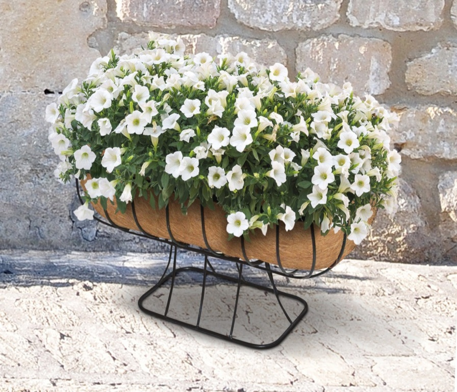 Ambassador Cradle Planter  With Coco Liner - 24""
